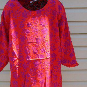 Back East Orange and Pink Flowered blouse
